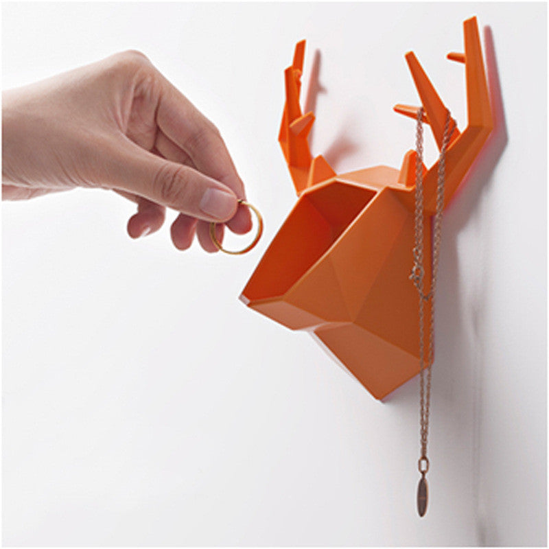 Antler Wall Container - Orange-HOME ACCESSORIES-PropShop24.com