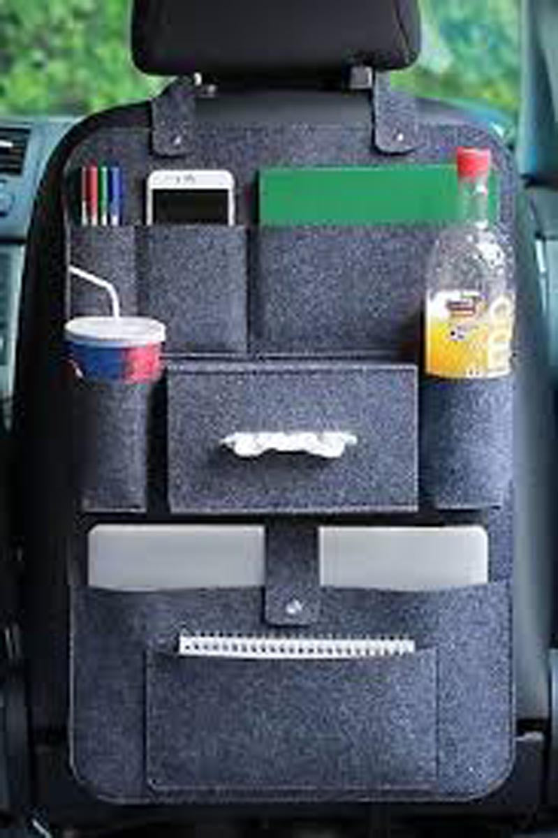 Car Seat Organiser - Big - Dark Grey-CAR ACCESSORIES-PropShop24.com