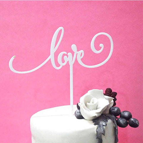 Cake Topper - Love - White - propshop-24