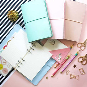 Faux Leather Cover Notebook - Mint-STATIONERY-PropShop24.com