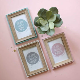 Blue Wooden Photo Frames-HOME-PropShop24.com