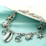 Anklet - Starfish Silver Shell-JEWELLERY-PropShop24.com