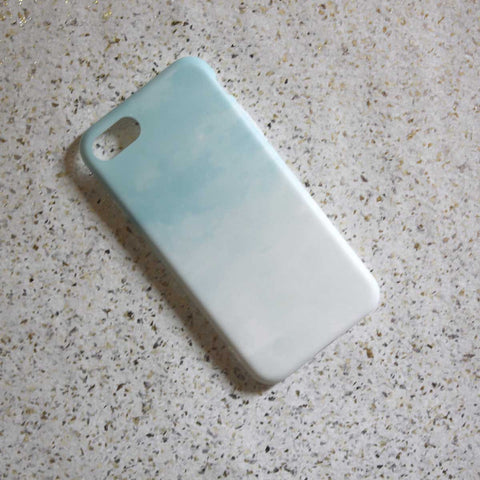 White & Blue Watercolour Phone Case - iPhone 7 - propshop-24