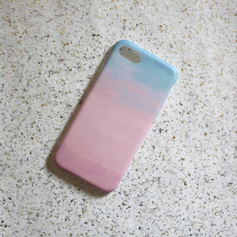 Pink & Blue Water Colour Phone Case - iPhone 7 - propshop-24