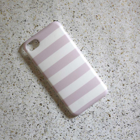 Pink & White Stripes Phone Case - iPhone 7 - propshop-24