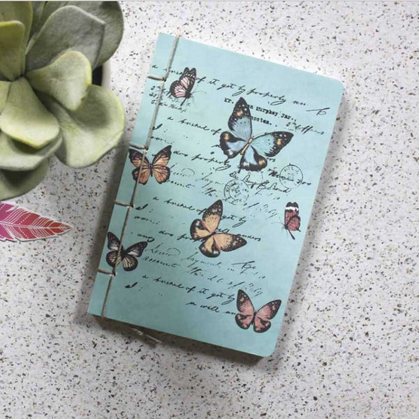 Notebook - Pastel Floral - Blue-Stationery-PropShop24.com