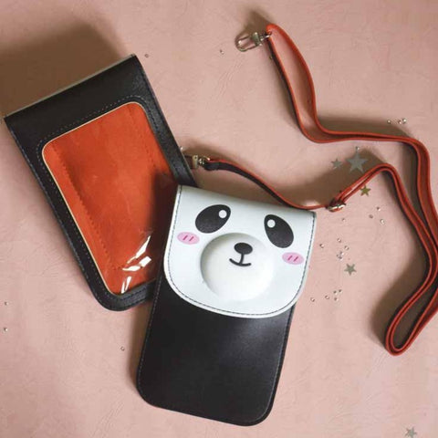 Cute Panda Pouch with Sling