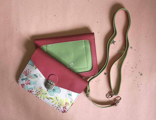Floral Pouch with Sling - Horizontal-FASHION-PropShop24.com
