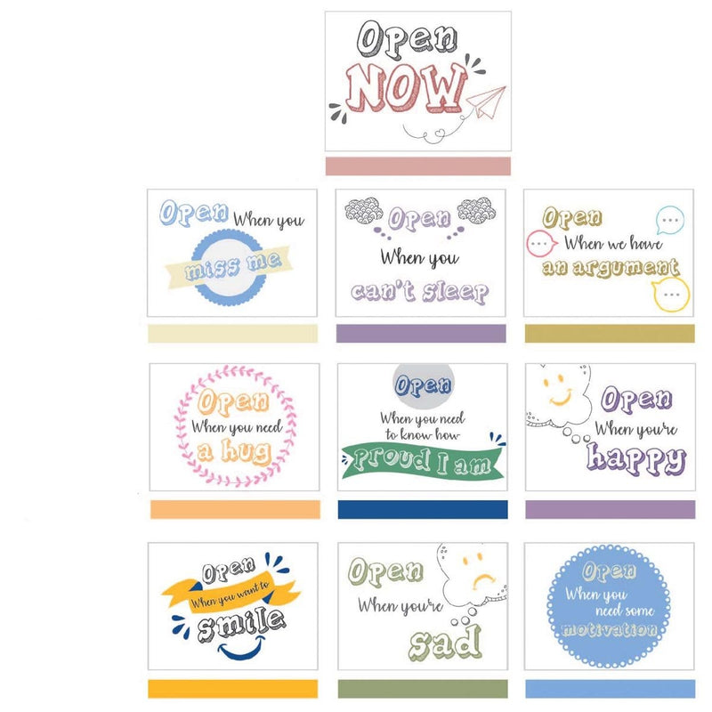Open When Cards - Quirky - Set Of 10-GREETING CARDS-PropShop24.com