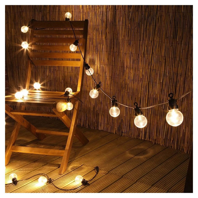 Bulb String Led Lights - Outdoor Globe - 10 Lamps 10 Foot-HOME ACCESSORIES-PropShop24.com