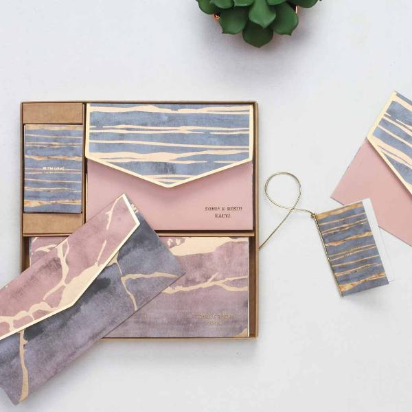 Boxed Set - Pastel Marbled-STATIONERY-PropShop24.com