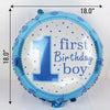 Foil Balloon - First Birthday Boy Party - Blue-BAR + PARTY-PropShop24.com