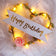 LED Light Cake Topper - Happy Birthday - Heart - Yellow
