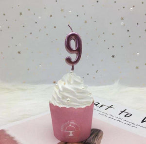 Numeric Candle Topper - Rose Pink-BAR + PARTY-PropShop24.com