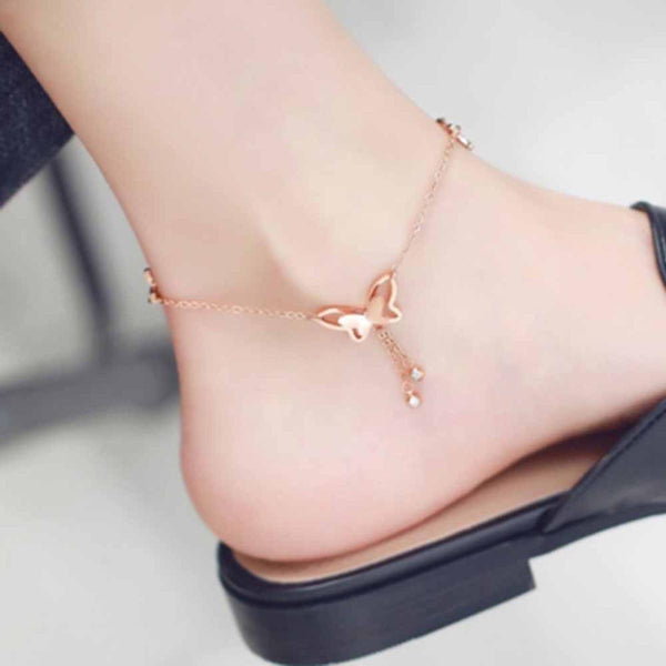 Anklet - Petite Butterfly-JEWELLERY-PropShop24.com