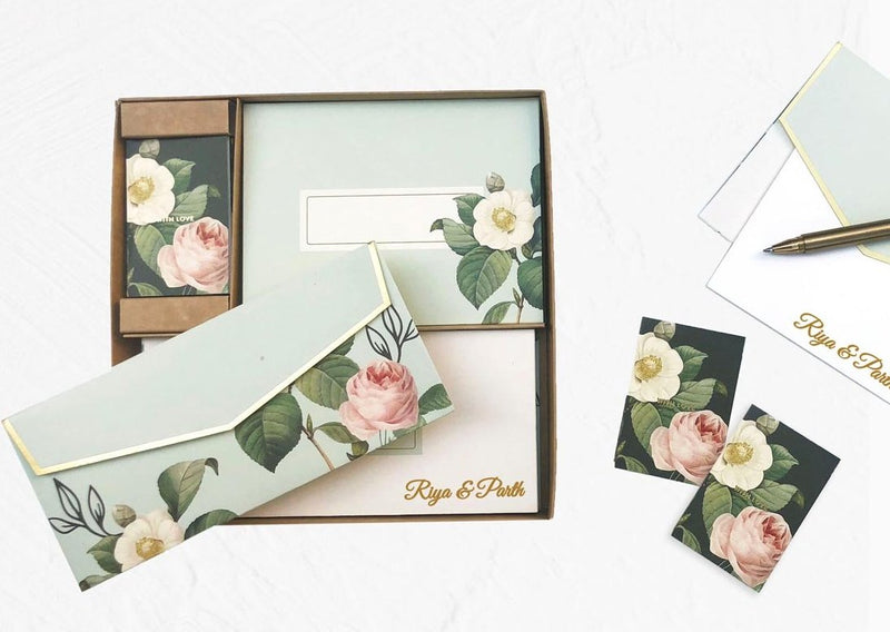 Personalized Small Boxed Set - Botanical - C.O.D Not Available-GIFTING ACCESSORIES-PropShop24.com