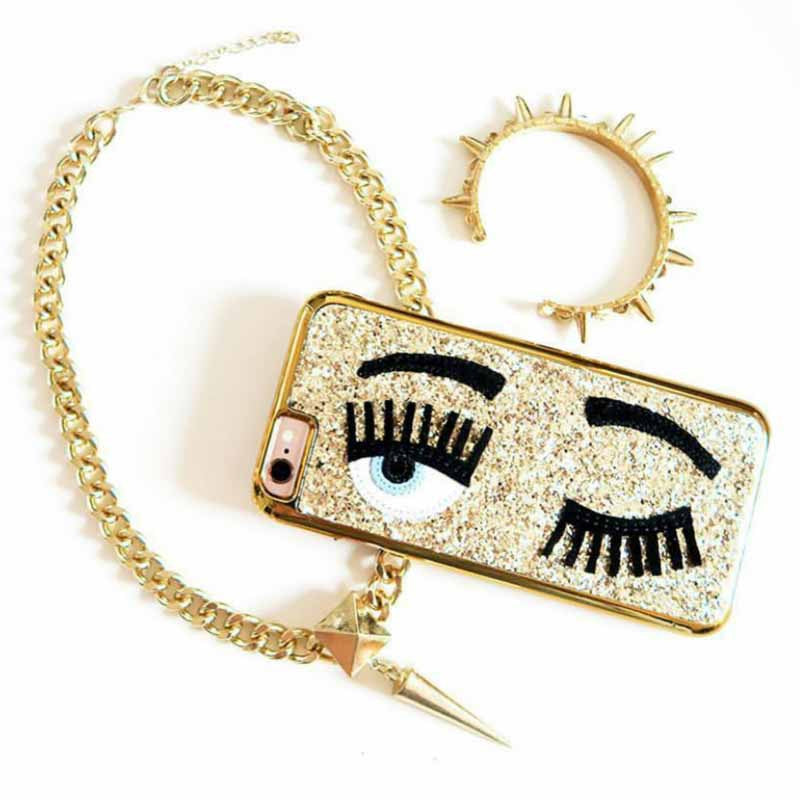 Phone-Case-Wink-Gold-PHONE CASES-PropShop24.com