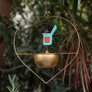Heart Shaped Planter - Gold-HOME ACCESSORIES-PropShop24.com