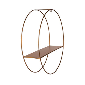 Metal Hanging Circle Shelf - Gold Finish-HOME ACCESSORIES-PropShop24.com