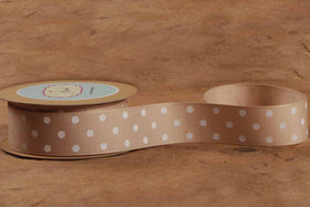 Ribbon - Tan Polka Dots-STATIONERY-PropShop24.com