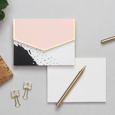 personalised Notecard Set - Peach Abstract - C.O.D NOT AVAILABLE-STATIONERY-PropShop24.com