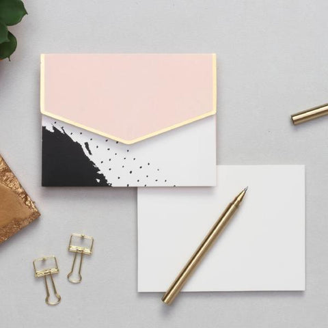 Notecard Set - Peach Abstract-STATIONERY-PropShop24.com