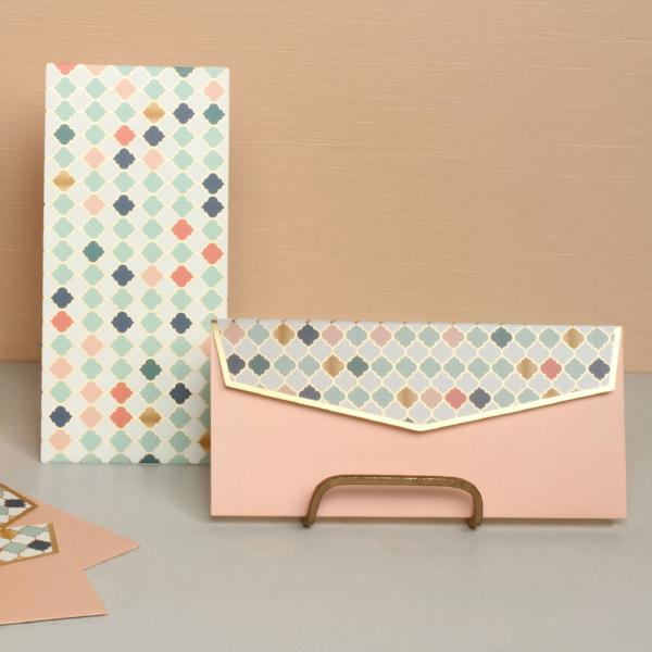 Money Envelopes - Peach Moroccan-STATIONERY-PropShop24.com