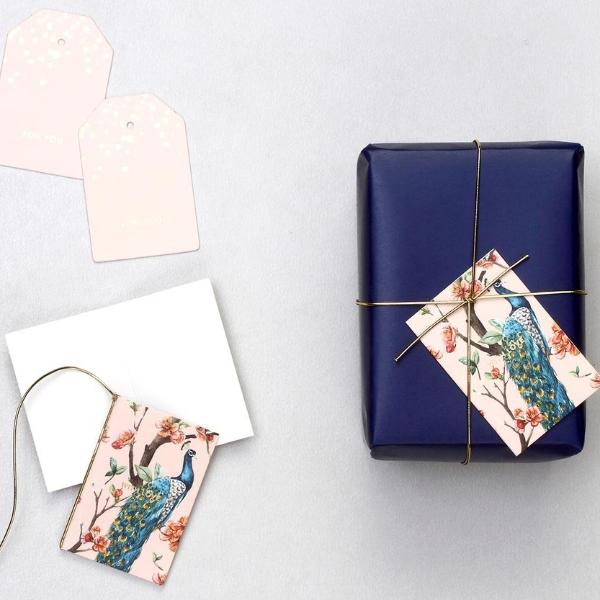Gift Tags - Peacock-STATIONERY-PropShop24.com
