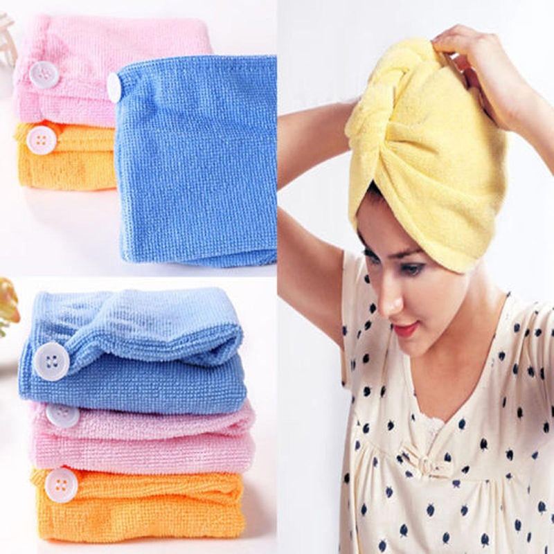 Hair Drying Towel Cap-TRAVEL ESSENTIALS-PropShop24.com