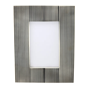 Resin Photo Frame - Black And White Stripes-HOME ACCESSORIES-PropShop24.com