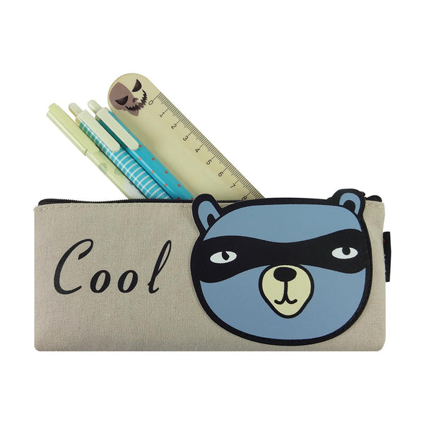 Fabric Pencil Case - Cool Panda Blue-STATIONERY-PropShop24.com