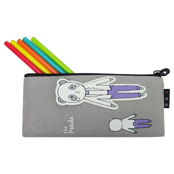 Fabric Pencil Case - Daddy Baby Panda Purple-STATIONERY-PropShop24.com