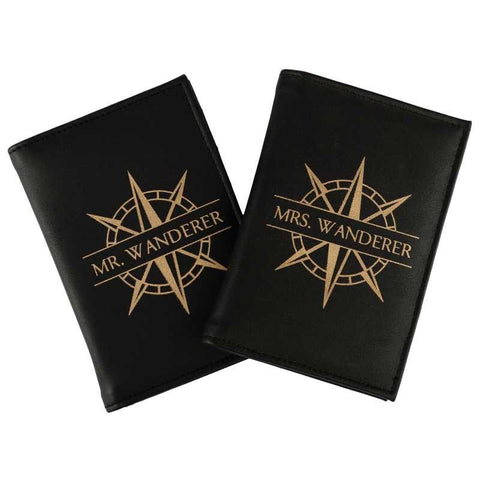 Passport Covers - Mr & Mrs. Wanderer Set - Black-Fashion-PropShop24.com