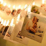 LED Photo Clip String Lights - 10 Photo Clips - Warm White-HOME-PropShop24.com