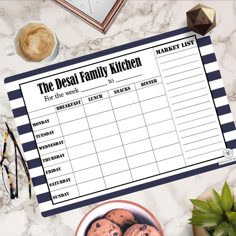 Personalized Rewritable Meal Plan Magnet - Nautical Dreams - Magnum - Cod Not Available-NOTEBOOKS + JOURNALS-PropShop24.com