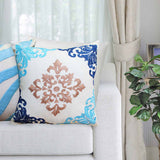 Edith Embroidered Damask Decorative Cushion-HOME-PropShop24.com