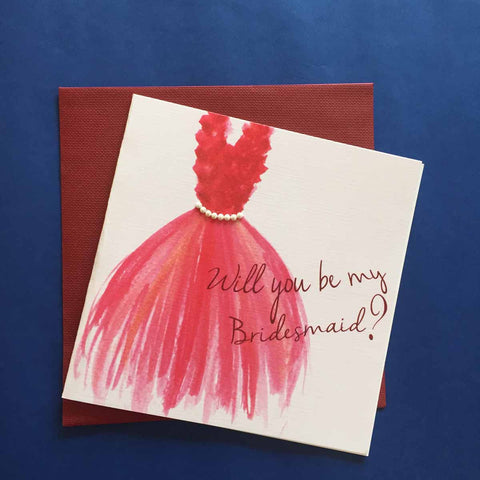 Greeting card-Will you be my Bridesmaid?-STATIONERY-PropShop24.com