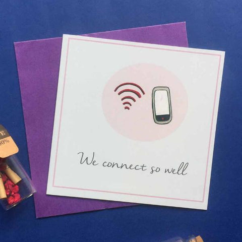 Greeting card-We connect so well' card-STATIONERY-PropShop24.com