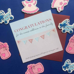 Greeting Card-Congratulations For The Baby' Card-GREETING CARDS-PropShop24.com