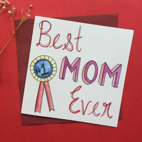 Greeting card-'Best Mom Ever' card-STATIONERY-PropShop24.com