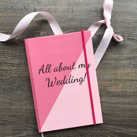 Hardbound Journal- All About My Wedding-STATIONERY-PropShop24.com