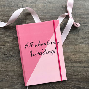 Hardbound Journal- All About My Wedding-NOTEBOOKS + JOURNALS-PropShop24.com
