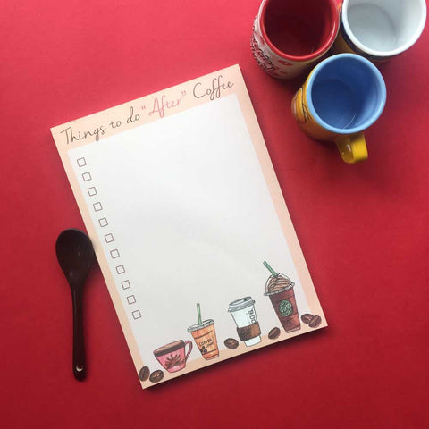 Notepad - Things to do After Coffee - propshop-24
