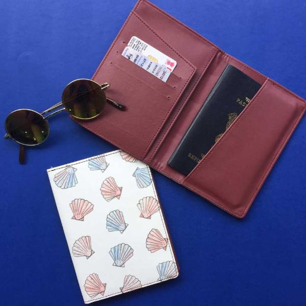 Passport Case - Sea Shells-TRAVEL ESSENTIALS-PropShop24.com