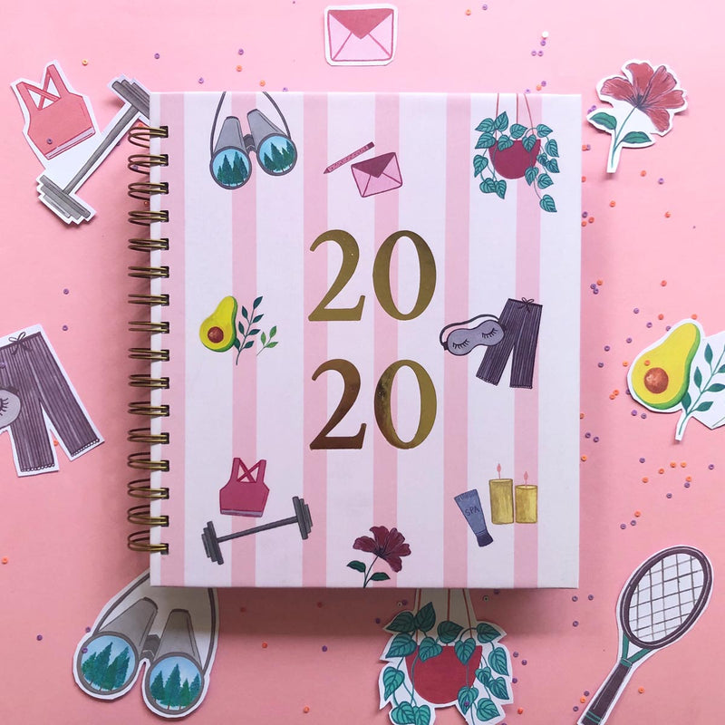 Endless Indulgence 2020 Wiro Bound Annual Planner-NOTEBOOKS + PLANNERS-PropShop24.com