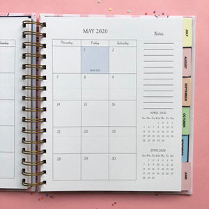 Golden Bloom 2020 Wiro Bound Annual Planner-NOTEBOOKS + PLANNERS-PropShop24.com