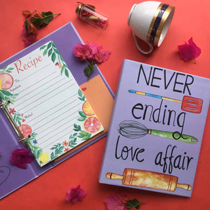 Recipe Planner- Never Ending Love Affair-NOTEBOOKS + JOURNALS-PropShop24.com