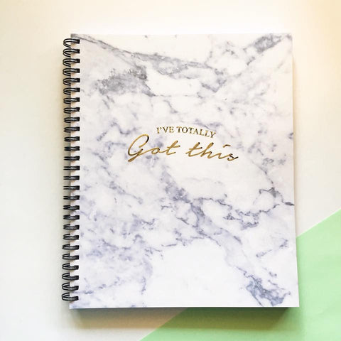 Planner - I've totally got this (Marble Print)