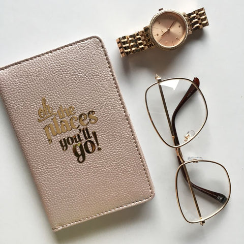Passport Cover - Rose Gold : Oh! The places you'll go-FASHION-PropShop24.com