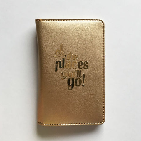Passport Cover - Gold : Oh! The places you'll go-FASHION-PropShop24.com